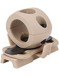 Abrazadera de Linterna Casco Soporte de Montaje para Casco ( Color : Broncearse )