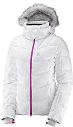 Salomon Icetown Jkt W Jacket, Women, Women, White Heather, Large