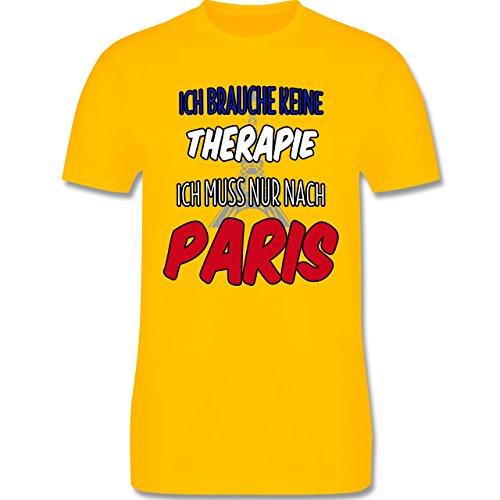 Städte - Ich brauche keine Therapie ich muss nur nach Paris - Herren Premium T-Shirt Gelb