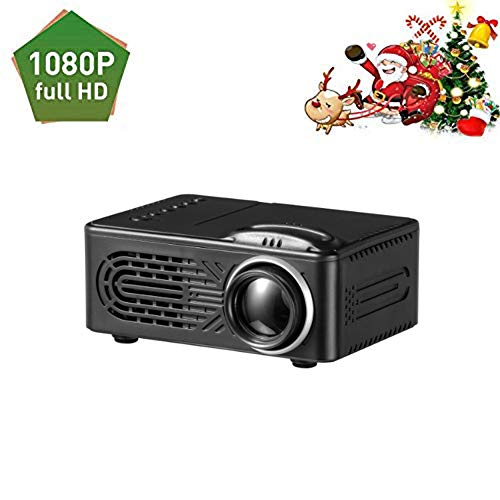 Mini Portable Projector LED Video Home Theater 1080P Built-in Speaker Media Player Personal Cinema TV Laptop Game-Entertainment Projectors.