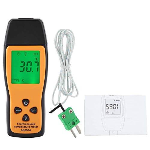 SMART SENSOR AS857 Digitales Thermoelement Thermometer, Hochpräzises Temperaturmessgerät mit K Typ und LCD Hintergrundbeleuchtung, -200 ℃ bis 70 ℃ (-328 ℉ bis 1292 ℉) -