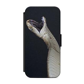 aina iPhone 6 und 6s Flipcase Handytasche Hülle mit Magnetverschluss auffklappbar Schlange Motiv Bild