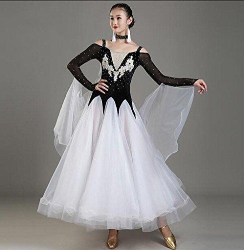 FGDJTYYJ Erwachsenen modernen Tanz Kleid Ballroom Dance Kleid Walzer große Show Uniform, - Europäische Tanz Kostüm