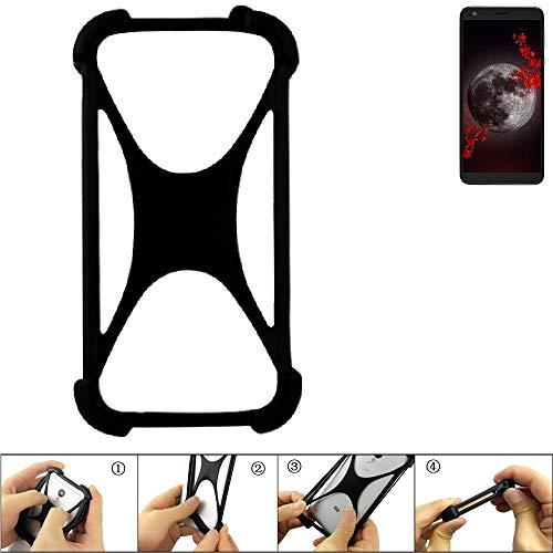 K-S-Trade Handyhülle für Sharp Aquos B10 Schutz Hülle Silikon Bumper Cover Case Silikoncase TPU Softcase Schutzhülle Smartphone Stoßschutz, schwarz (1x)