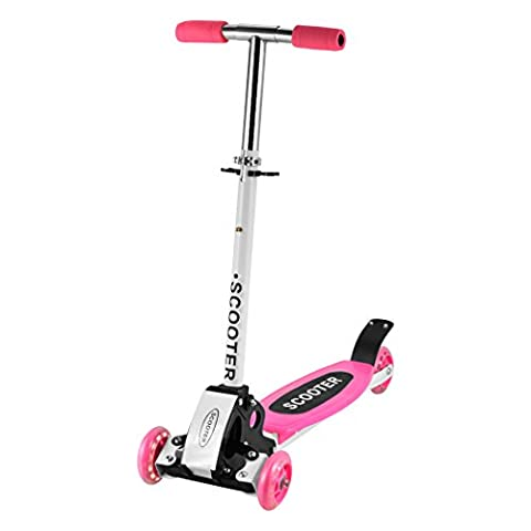 Ancheer Kids 3 Wheels Scooter Micro Mini Push Folding Adjustable T-Bar Toddler Kick Scooter For Boys Girls Children 2-9 Years Old