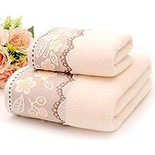 Juego de toallas de baño, juego de toallas de lino de algodón supersuave, juego