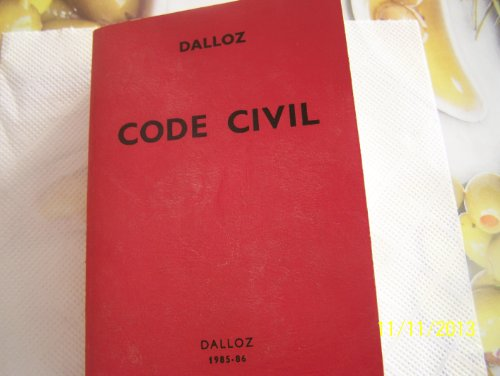 Code civil : 1985-1986 (Codes Dalloz)