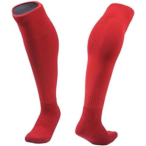 Clode® 1pair medias fútbol calcetines de los niños al aire libre 8-13 años fútbol calcetines