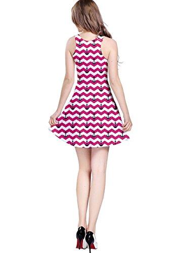 CowCow Damen Kleid Blau Navy Rosa - Hot Pink