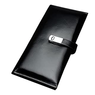 ACMEDEE Unisex Geldbörse Echte Leder mit Magnetischen Schloss Geldtasche mit Mehre Mezzanin für Kreditkarte Ausweistasche Brieftasche Bankkartentasche 19 * 10 * 30cm