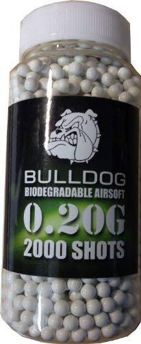 Bulldog High Pro Grade Kugeln für Luftpistole, 0,20 g, biologisch abbaubar, mittleres Gewicht, 6 mm, Weiß, 2000er-Pack -