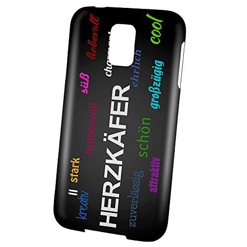PhotoFancy - Samsung Galaxy S5 Handyhülle mit Name Herzkäfer - Design