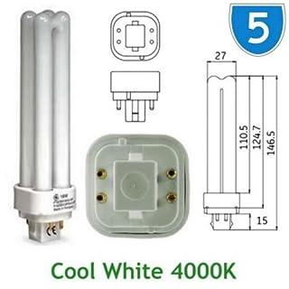 5 x GE 12870 18w Energiesparlampe GE Biax D, E, kühles Weiß, Quad 4-PIN Stecker-in G24q 4000 K - 2 PL 4P PLC 4000 K/Leuchtmittel Lampe Birne F18DBX SPX 41/84 (DE) 0, 4 polig