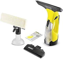 Idea Regalo - Kärcher Wv 5 Premium - Aspiragocce a Batteria, Capacità Serbatoio 100  ml, Resa per Carica 35 Finestre, Ampiezza di Lavoro 280 cm + 170 cm, Spray, 2 Bocchette , Lavavetri, Caricabatteria