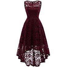 MuaDress Robe Femme soirée Cocktail Bal High Low Jupe Asymétrique ... e4244bc4e6f9
