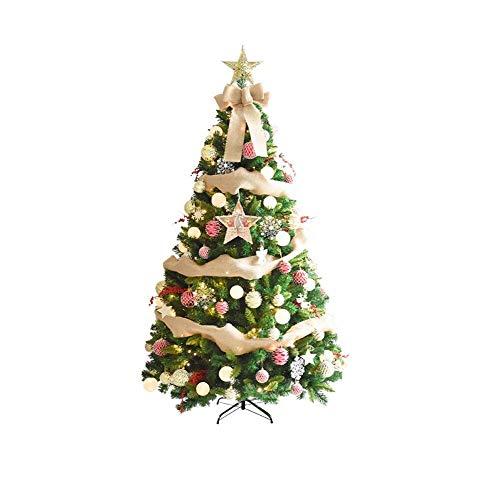 LWTOP 7ft künstlicher Weihnachtsbaum, Luxus-Weihnachtsbaum Weihnachtsbaum Weihnachtsbaum LLED-Licht und Faltbare Klammern (Weihnachtsbaum 7ft)