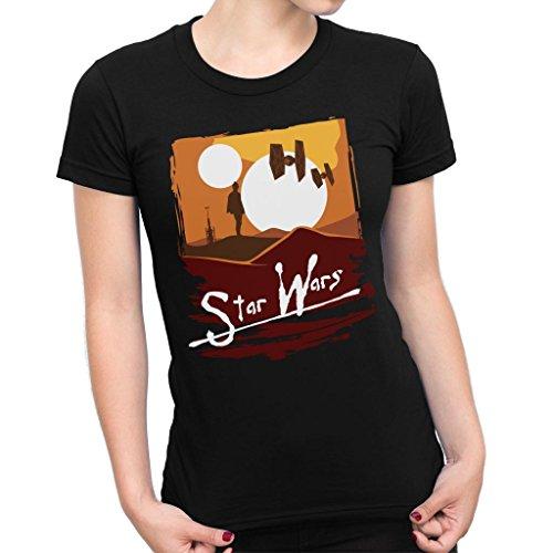 Luke Skywalker Apocalypse Now Tatooine Star Wars Women's T-Shirt
