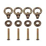 4pcs/pack Consiglio dei Ministri Tirare la Maniglia Mini Semplice Vintage Pull Rings Attaccante per Cassetti per Caso Cosmetico Scatola di Gioielli(Bronze)