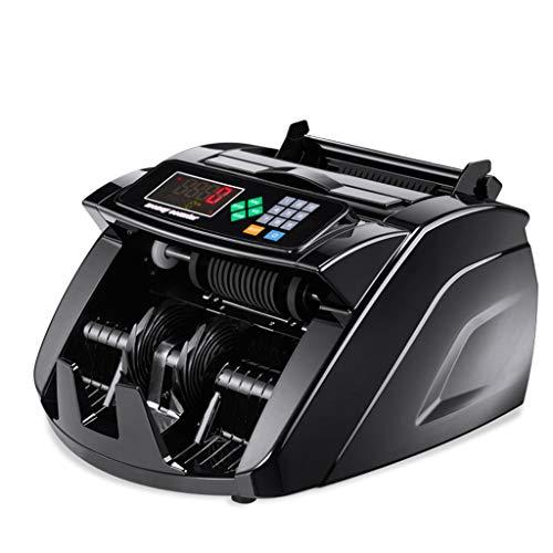 Geld Zähler weltweit Währung Geldzählmaschine Geldzählmaschine Gelddetektor (Color : Black)