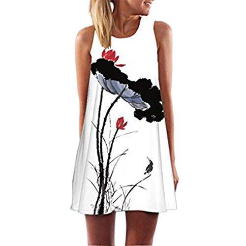 d f¨¹r Frauen beil?ufige Sommer Kleider mit Blumenmuster (Farben, Die Gehen Mit Mint Grün)