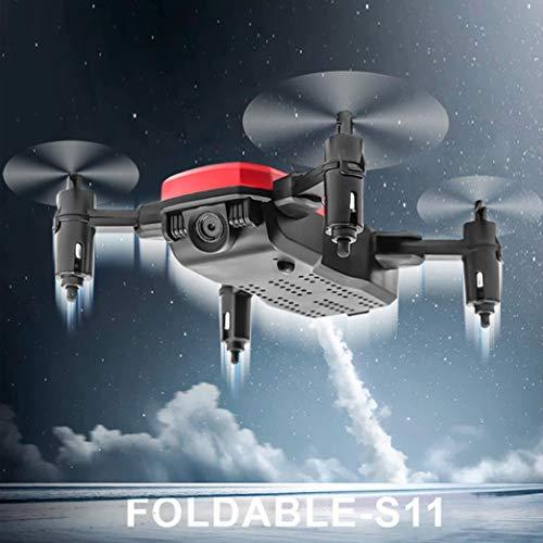 (TAOtTAO Mini D2WH Faltbar mit Wifi FPV 0.3MP HD Kamera 2.4G 6-Achsen RC Quadcopter Drone (Rot))