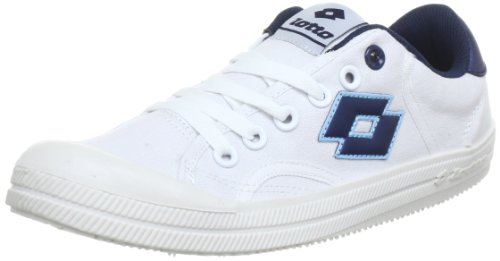 Lotto Sport DIXIE Q5103, Sneaker unisex adulto, Bianco (Weiß (WHT/INDIAN BLUE)), 45