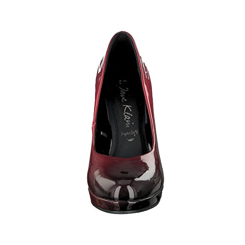 Jane Klain Damen 224 020 Plateaupumps Rot (Bordo)