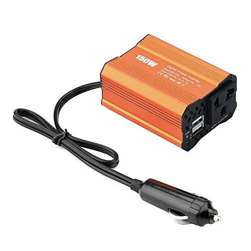 DEDC 150W Auto Wechselrichter KFZ Autokonverter Spannungswandler DC 12V auf AC 220V Power Inverter mit 2 USB Anschlüssen, 1 Zigarettenanzünder Anschlüsse 220v Power Inverter