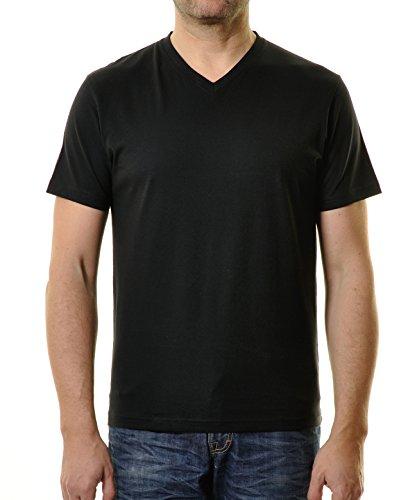 Preisvergleich Produktbild RAGMAN Shirt schwarz im Doppelpack V-Neck, XXL