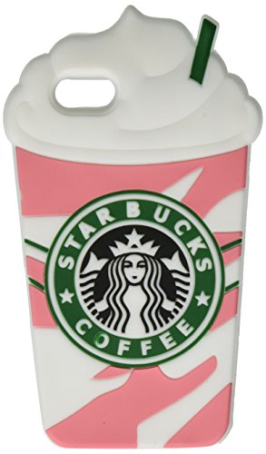 Apple Iphone 5 Shell (IPhone 5 5S 5C Fall, Anya 3D netter Bogen-Superheld-Serie Art-Karikatur-Leder Hülle Shell-Hülle für Apple iPhone 5 5S 5C Starbucks Kaffee-Eis Rainbow Pink)