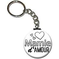 MAMIE d'amour Porte clés chaînette 38mm ( Idée Cadeau pour la Fête des Grands Mères Noël Anniversaire Mamy )