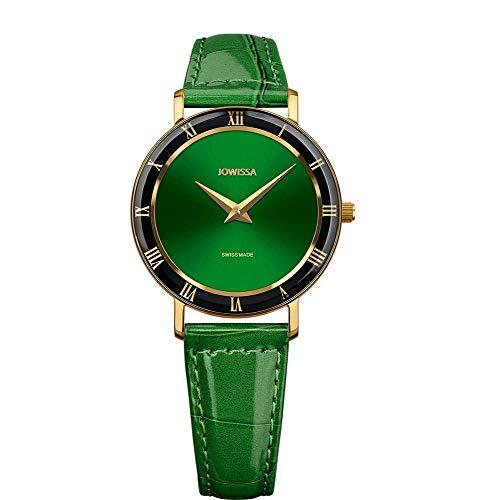 Jowissa Roma Swiss J2.273.M - Reloj de Pulsera para Mujer, Color Verde y Dorado
