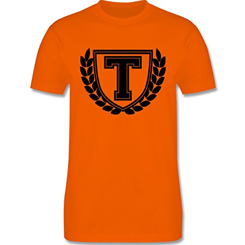 Anfangsbuchstaben - T Collegestyle - Herren Premium T-Shirt Orange