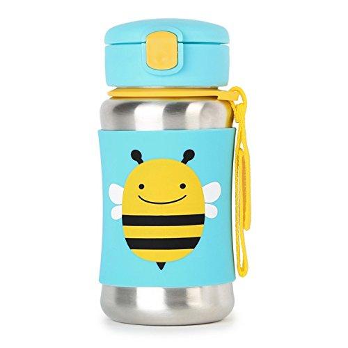 Skip Hop 252514 Trinkflasche, Edelstahl, für Kinder, mit Silikonhülle, mehrfarbig, Biene Brooklyn