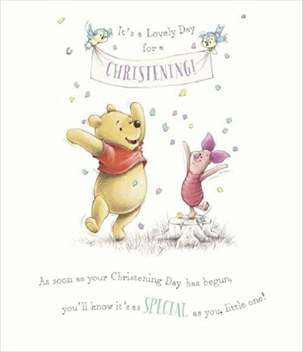 Winnie the Pooh  christening day card