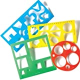 #5: GEOMETRICAL SHAPE STENCIL SET 0F 5 PCS
