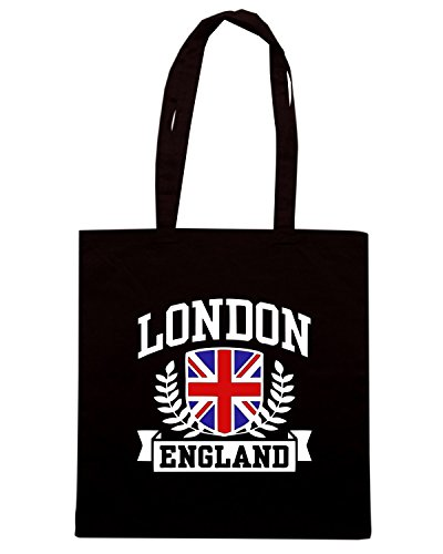 T-Shirtshock - Borsa Shopping TSTEM0184 london england Nero