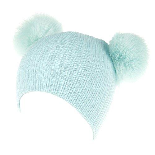 Babybekleidung Hüte & Mützen Longra Baby Neugeborene nette Mode behalten Mädchen Jungen Wintermütze Winterhüte Strickwolle strickmütze Wollemütze(0-36 Monate) (Sky Blue)