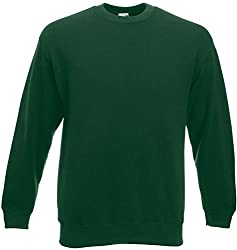 Fruit of the Loom - Set-In Sweatshirt - bottlegreen - Größe: XXL