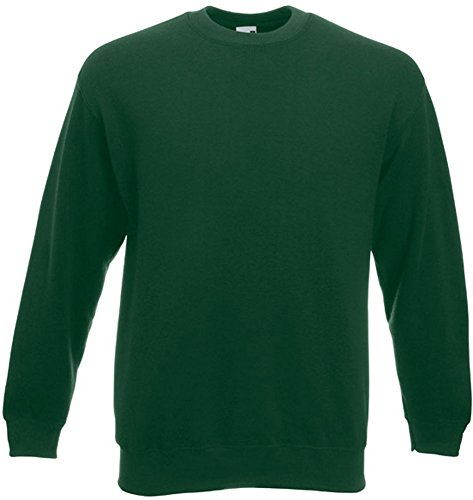 Fruit of the Loom - Set-In Sweatshirt - bottlegreen - Größe: XL