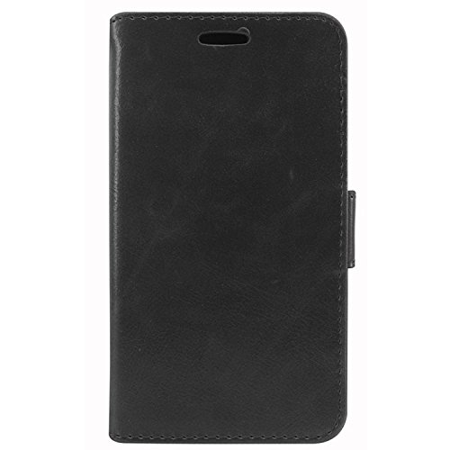 DMG Magnetic Wallet Stand Case with Detachable Back Cover Case for Micromax Canvas Android One A1 (Black)