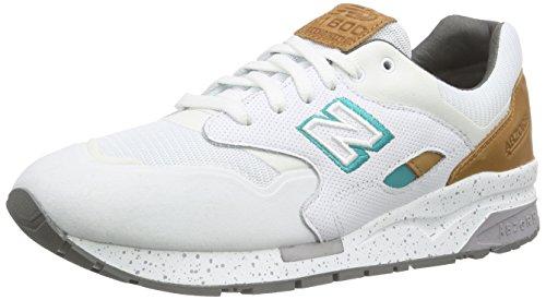 New Balance Cw1600, Baskets Basses Homme Blanc (White/Orange)