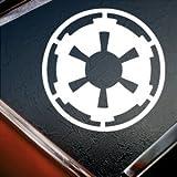 Star Wars blanco Galactic Empire blanco de silueta coche ventana vinilo adhesivo de vinilo