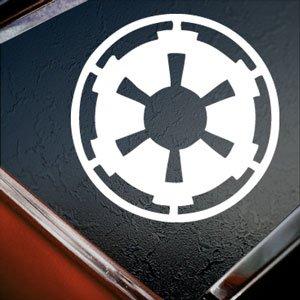 TrueDecalStore Star Wars weiß Galactic Empire Weiß Silhouette Auto Fenster Vinyl Aufkleber Aufkleber -