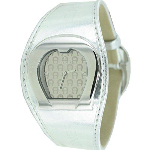 MFH. AIGNER Orologio da donna orologio A41212 in pelle argento prezzo consigliato: 449,? NUOVO 8456