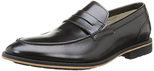 Clarks Gatley Step Herren Slipper Schwarz (Black Leather)