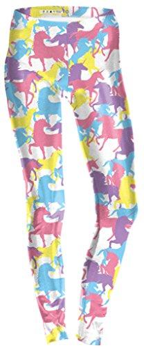 Belsen - Legging - Femme multicolore citrouille Medium Unicorn horse