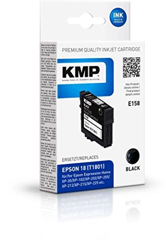 Preisvergleich Produktbild KMP Tintenkartusche für Epson Expression Home XP-102 / XP-202,  E158,  black
