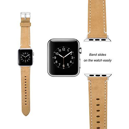 12shage Mode leder ersatz armband strap band für apple watch serie 1/2/3 38mm -