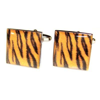 Tiger Haut Design Manschettenknöpfe